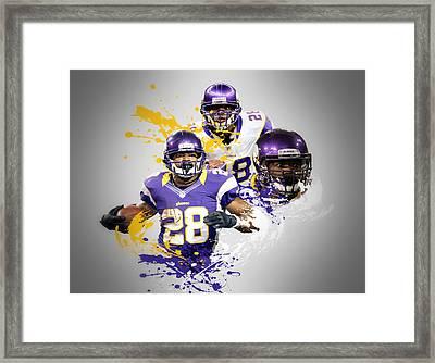 Adrian Peterson Vikings Framed Print