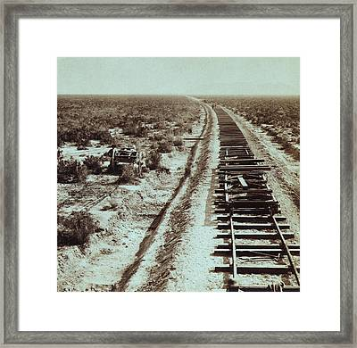 Advance Of Civilization. Railroad Framed Print by Everett