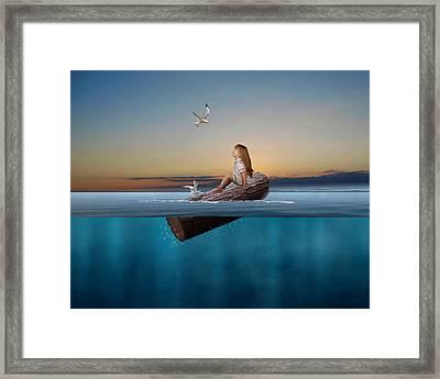 Flotation Framed Print