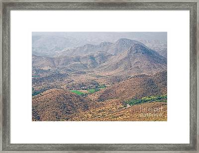 Framed Print featuring the photograph Aeriel View Of Udaipur From Monsoon Palace by Yew Kwang