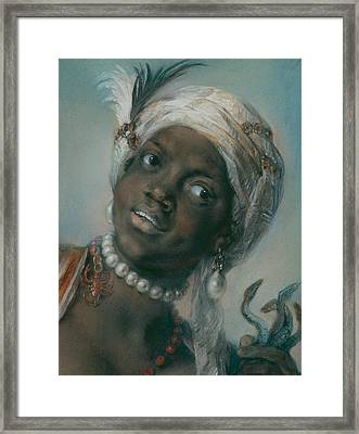Africa Framed Print by Rosalba Carriera