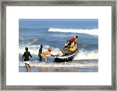 African Fishermen 1971 Framed Print