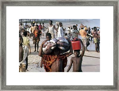 African Fishermen Framed Print