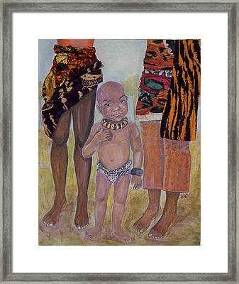 Afrik Boy Framed Print