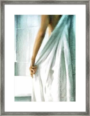 Framed Print featuring the digital art After The Bath by Gun Legler