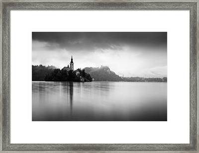 After The Rain At Lake Bled Framed Print