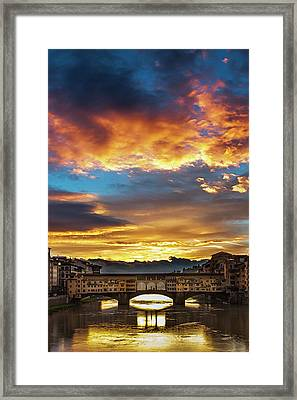 After The Storm In Florence Framed Print