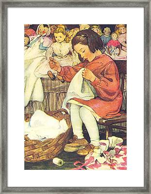 Afternoon Chores Framed Print by Jessie Wilcox Smith