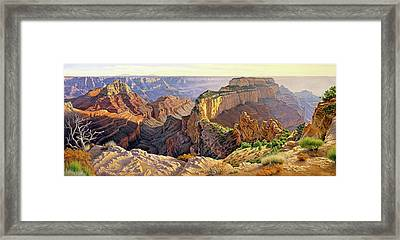 Afternoon-north Rim Framed Print by Paul Krapf