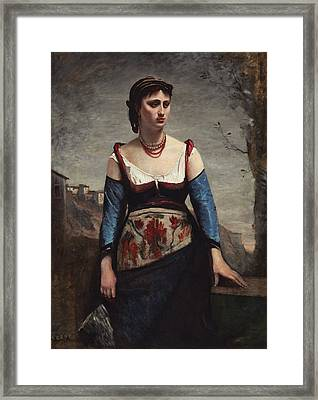 Agostina Framed Print by Jean-baptiste-camille Corot