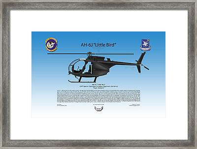 Ah-6j Little Bird Framed Print by Arthur Eggers