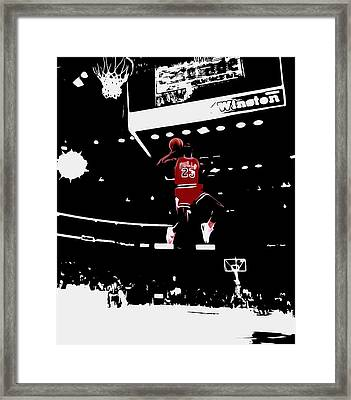 Air Jordan 1988 Slam Dunk Contest Framed Print