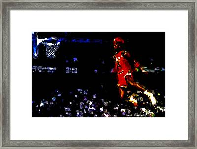 Air Jordan In Flight Iv Framed Print