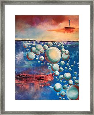 Framed Print featuring the painting Air by Mary Rimmell
