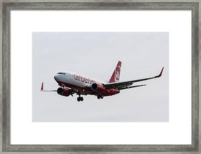 Airberlin Boeing 737 Framed Print