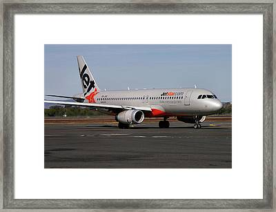 Framed Print featuring the photograph Airbus A320-232 by Tim Beach
