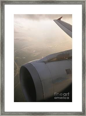 Airplane Engine Framed Print by Shannon Fagan