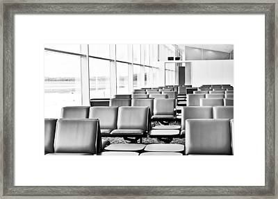 Airport Waiting Lounge Framed Print by Tom Gowanlock