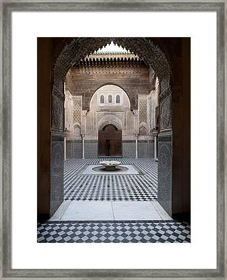 Al-attarine Madrasa Built By Abu Framed Print
