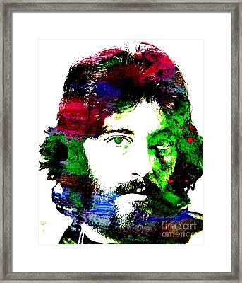 Al Pacino Abstract  Framed Print by John Malone