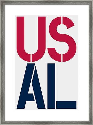 Alabama Framed Print by Three Dots