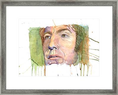 Fan Art - Alan Rickman Framed Print by Elena Schnaider