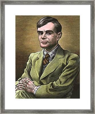 Alan Turing, British Mathematician Framed Print