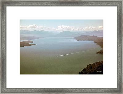 Framed Print featuring the photograph Alaska The Beautiful by Madeline Ellis