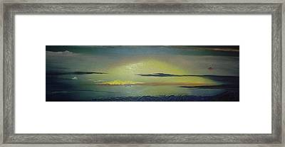 Alaskan Sunset Framed Print by Anna Villarreal Garbis