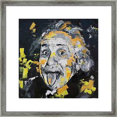 Framed Print featuring the painting Albert Einstein by Richard Day