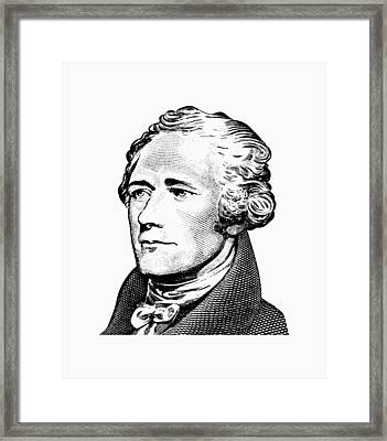 Alexander Hamilton - Founding Father Graphic  Framed Print by War Is Hell Store