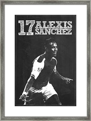 Alexis Sanchez Framed Print by Semih Yurdabak