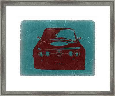 Alfa Romeo Gtv Framed Print by Naxart Studio