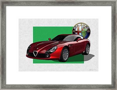 Alfa Romeo Zagato  T Z 3  Stradale With 3 D Badge  Framed Print