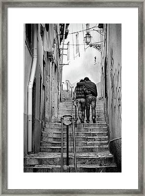 Alfama Street Framed Print by Carlos Caetano