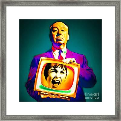 Alfred Hitchcock Psycho 20151218v3 Square Framed Print