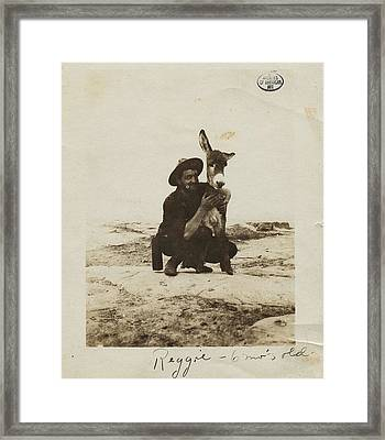 Alfred Lenz With Reggie The Burro Framed Print by Celestial Images