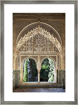 Alhambra Windows Framed Print