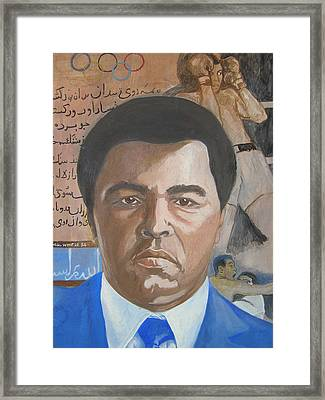 Ali Framed Print by Nigel Wynter