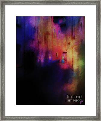 Framed Print featuring the mixed media Alice by Jim  Hatch
