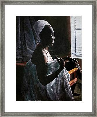 Alicia At The Window Framed Print