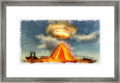Alien Home Planet Framed Print by Esoterica Art Agency