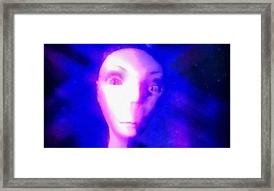 Alien In Space Framed Print by Raphael Terra