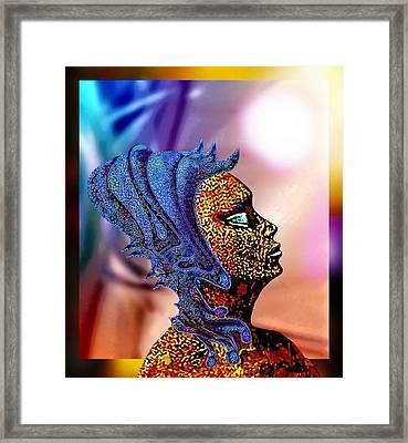Alien Portrait Framed Print