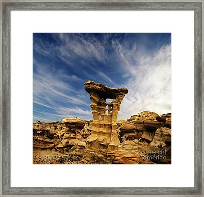 Alien Throne New Mexico Framed Print by Bob Christopher