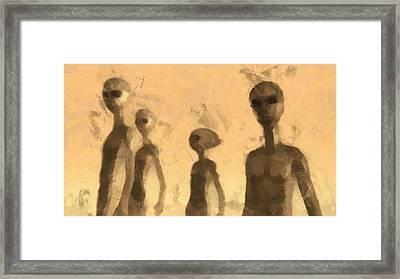 Aliens Framed Print by Esoterica Art Agency