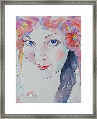 Framed Print featuring the painting Alisha by Mary Haley-Rocks