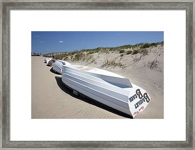 All In A Row Framed Print by Mary Haber