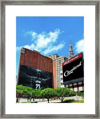 All In Cleveland Framed Print by Kenneth Krolikowski