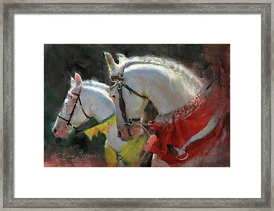 All The King's Horses Framed Print by Anna Rose Bain